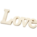 Wooden Love Word